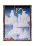 Cumulonimbliss 96 Gicleetryck av Kenny Scharf