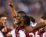 Aug 20, 2014 - MLS: Los Angeles Galaxy vs Colorado Rapids - Dillon Powers, Deshorn Brown Photo by Isaiah J. Downing
