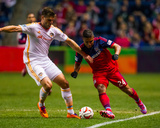 Oct 24, 2014 - MLS: Houston Dynamo vs Chicago Fire - Quincy Amarikwa, David Horst Photo by Guy Rhodes