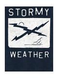 Stormy Weather - Crossed Lightning Bolts Design Affiches par  Junk Food