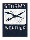 Stormy Weather - Crossed Lightning Bolts Design Prints by  Junk Food