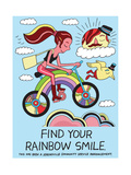 Jeremyville: Find Your Rainbow Smile Print by  Jeremyville