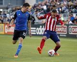 Apr 26, 2014 - MLS: Chivas USA vs San Jose Earthquakes - Leandro Barrera, Andreas Gorlitz Photo by Robert Stanton