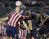 May 31, 2014 - MLS: Philadelphia Union vs Chivas USA - Maurice Edu, Eriq Zavaleta Photo by Kelvin Kuo