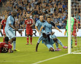 Aug 16, 2014 - MLS: Toronto FC vs Sporting KC - Joe Bendik, C.J. Sapong Photo by Denny Medley