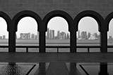 Doha Skyline from Museum Photographic Print by Gregory T. Smith