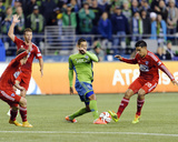 2014 MLS Playoffs: Nov 10, FC Dallas vs Seattle Sounders - Victor Ulloa, Clint Dempsey Photo by Steven Bisig