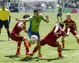 May 31, 2014 - MLS: Real Salt Lake vs Seattle Sounders - Marco Pappa, Tony Beltran Photo by Steven Bisig