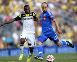 Jul 19, 2014 - MLS: Montreal Impact vs Columbus Crew - Justin Mapp, Waylon Francis Photo by Joseph Maiorana