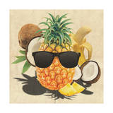Tropical Medley - Pineapple Wearing Sunglasses Premium Giclee Print by  Junk Food