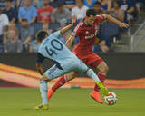 Aug 16, 2014 - MLS: Toronto FC vs Sporting KC - Gilberto, Igor Juliao Photo by Denny Medley