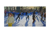 Ice Skaters, Christmas Fayre, Hyde Park, London, 2014 Giclee Print by Andrew Macara