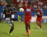2014 MLS U.S. Open Cup: Aug 12, Philadelphia Union vs FC Dallas - Fabian Castillo, Sheanon Williams Photo by Tim Heitman