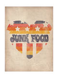 Starred and Striped Heart Posters by  Junk Food