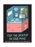 Jeremyville: Tidy The Desktop In Your Mind Print by  Jeremyville