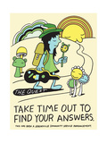 Jeremyville: Take Time Out To Find Your Answers Prints by  Jeremyville