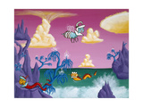 Barberadise Giclee Print by Kenny Scharf