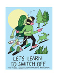 Jeremyville: Lets Learn To Switch Off Prints by  Jeremyville
