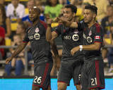 Aug 9, 2014 - MLS: Toronto FC vs Columbus Crew - Jonathan Osorio, Gilberto Photo by Trevor Ruszkowski