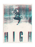 Skateboarding HIGH in 3D (red and blue) Posters par  Junk Food