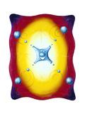 Sphereshot Gicléetryck av Kenny Scharf