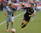 May 31, 2014 - MLS: Sporting KC vs D.C. United - Fabian Espindola, Seth Sinovic Photo by Geoff Burke