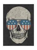 Skull and American Flag Shades Posters par  Junk Food