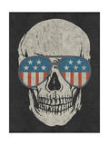 Skull and American Flag Shades Posters by  Junk Food