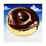 Chocolate Glazed N' Puffy Clouds Impression giclée par Kenny Scharf
