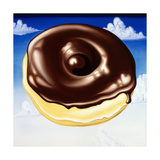 Chocolate Glazed N' Puffy Clouds Giclee Print by Kenny Scharf