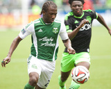 Apr 5, 2014 - MLS: Seattle Sounders vs Portland Timbers - Diego Chara, Obafemi Martins Photo by Jaime Valdez