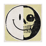 Half Happy, Haff Skull Print by  Junk Food