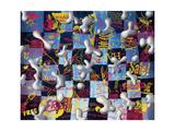Dimensnives Gicléetryck av Kenny Scharf
