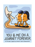 Jeremyville: You And Meona Journey Forever Poster by  Jeremyville