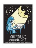 Jeremyville: Create By Moonlight Affiche par  Jeremyville