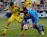 Jul 4, 2014 - MLS: Columbus Crew vs Colorado Rapids - Wil Trapp, Steve Clark, Vicente Sanchez Photo by Isaiah J. Downing