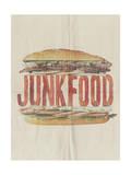 JUNKFOOD Meat Sandwich Posters by  Junk Food