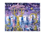 Bear Jungle Giclée-Druck von Kenny Scharf
