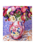 Asters in a Pink Floral Victorian Jug, 2002 Giclee Print by Joan Thewsey