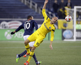 2014 MLS Playoffs: Nov 9, Columbus Crew vs New England Revolution - Teal Bunbury, Eric Gehrig Photo by Stew Milne