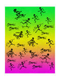 Human and Dog Skeletons Skateboarders and Warriors Posters par  Junk Food