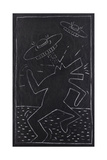 Haring - Subway Drawing Giclee Print by Keith Haring
