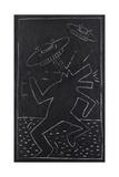 Haring - Subway Drawing Lámina giclée por Keith Haring