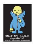 Jeremyville: Unzip Your Sadness And Breathe Art par  Jeremyville