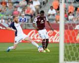 Aug 2, 2014 - MLS: Real Salt Lake vs Colorado Rapids - Deshorn Brown, Nat Borchers Photo by Ron Chenoy
