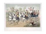 Break de chasse, depart des chasseurs Giclee Print by Victor-Jean Adam