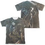 The Hobbit: The Battle of the Five Armies - King (Front/Back Print) T-shirts