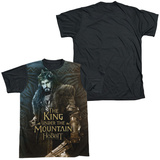 The Hobbit: The Battle of the Five Armies - King(black back) T-shirts