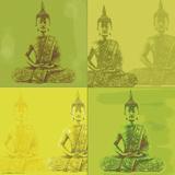 Buddha Quad - Green Posters