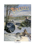 Touristic Poster, Pyrenees- Luchon, Biarritz Giclee Print